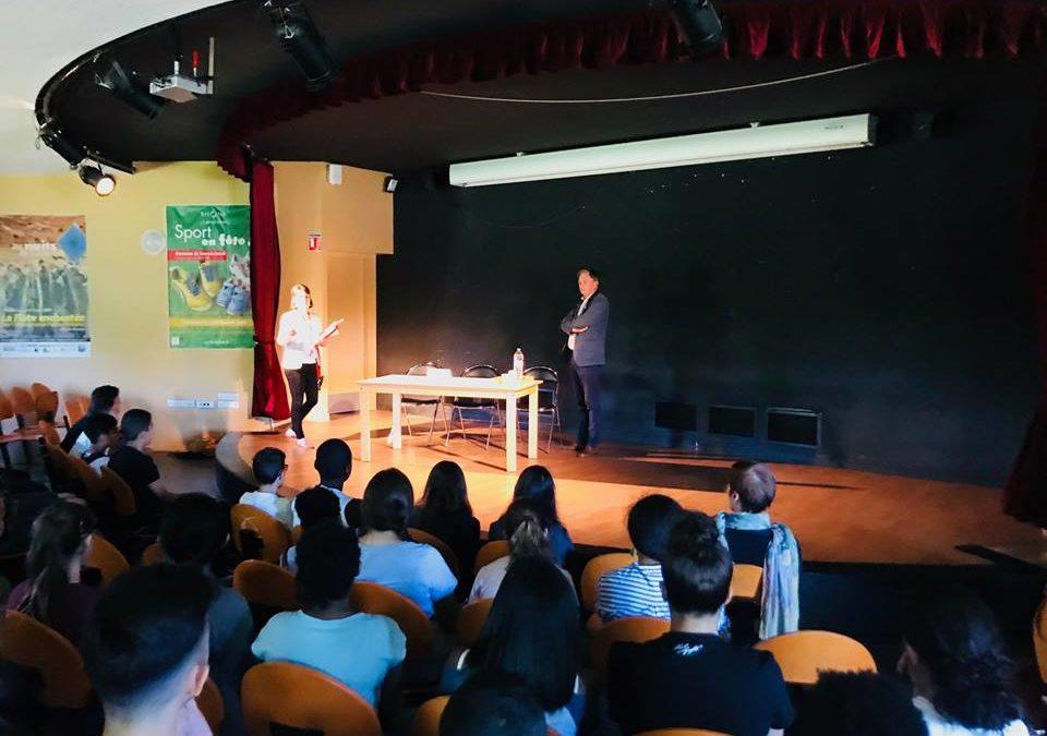 Rencontre avec les élèves du collègeMarcel Pagnol de Pierre-Bénite
