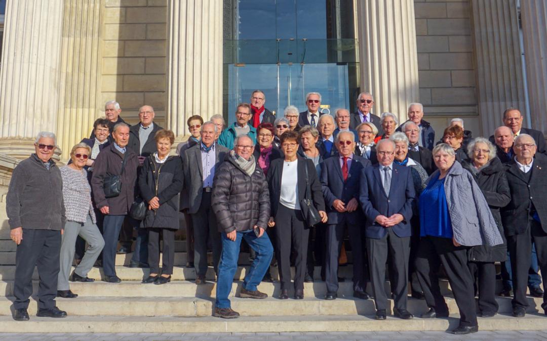 Les anciens combattants de la circonscription en visite à l'Assemblée Nationale
