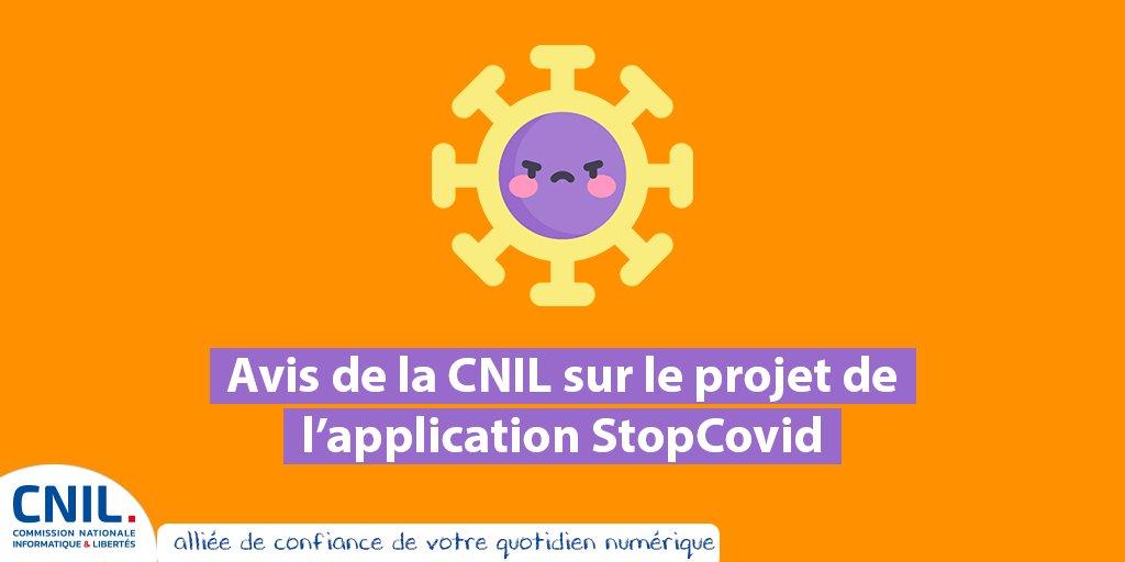 Publication de l'avis de la CNIL sur l'application «Stop Covid»