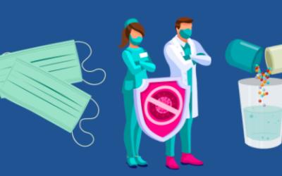 Provisions pour masques, tests et vaccins.