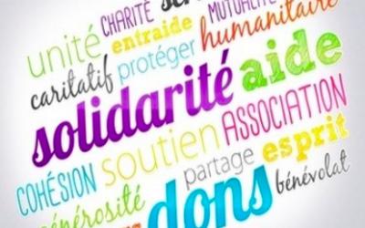 Visioconférence avec les associations caritatives.