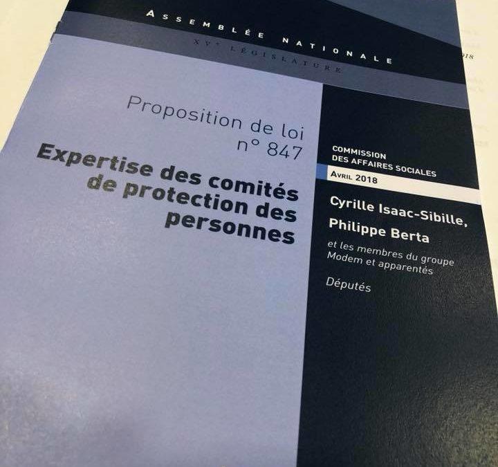 Adoption de la proposition de loi : Expertise des comités de protection des personnes