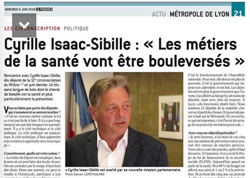 Cyrille Isaac-Sibille: «Les métiers de la santé vont être bouleversés»